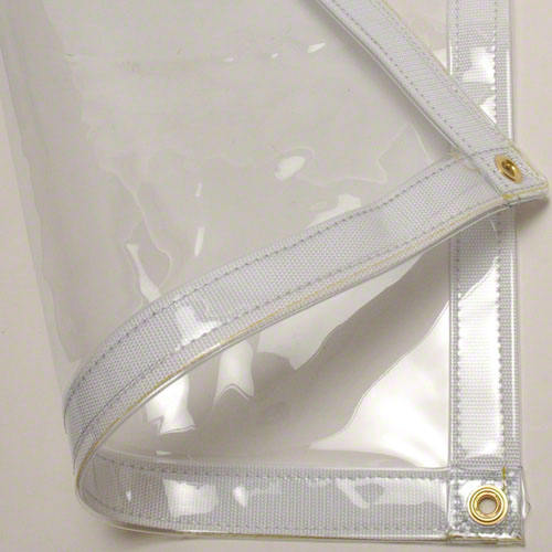 UV resistant heavy duty super clear vinyl tarps with grommets