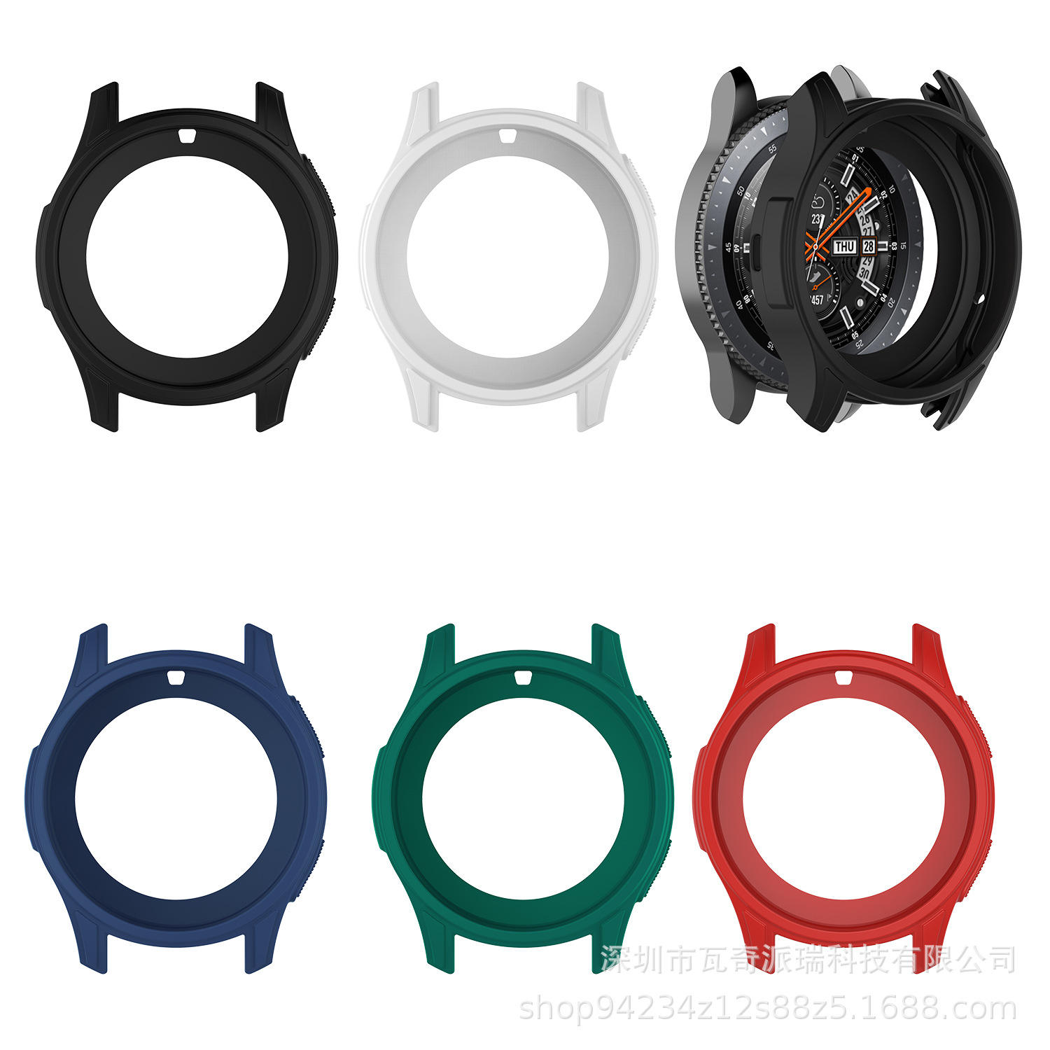 42mm 46mm TPU Silicone Watch Case Cover Bumper Protector For Samsung Galaxy Watch