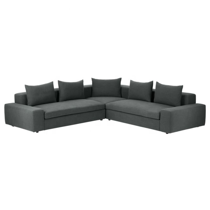 Super Comfortable Living Room Furniture Soft Down Feather Filling Sofas Big Size L Shape Corner Sofa