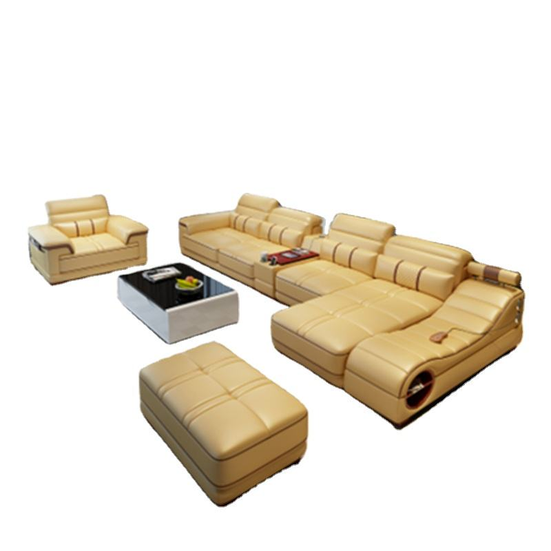 modern furniture multifunctional massager leather living room sofas
