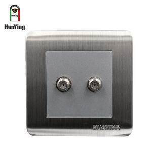 4W 30V two electrical receiving TV satellite wall socket
