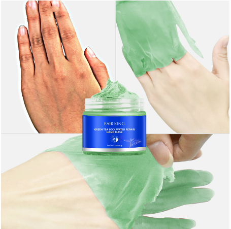 Green Tea Moisturizing Whitening Exfoliating Calluses Anti-aging Hand Cream 50G Lock Water Repair Hand Mask Nourish