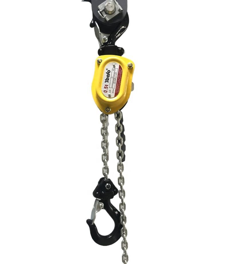 500KG/0.5T Hand operated manual lever hoist chain block lifter