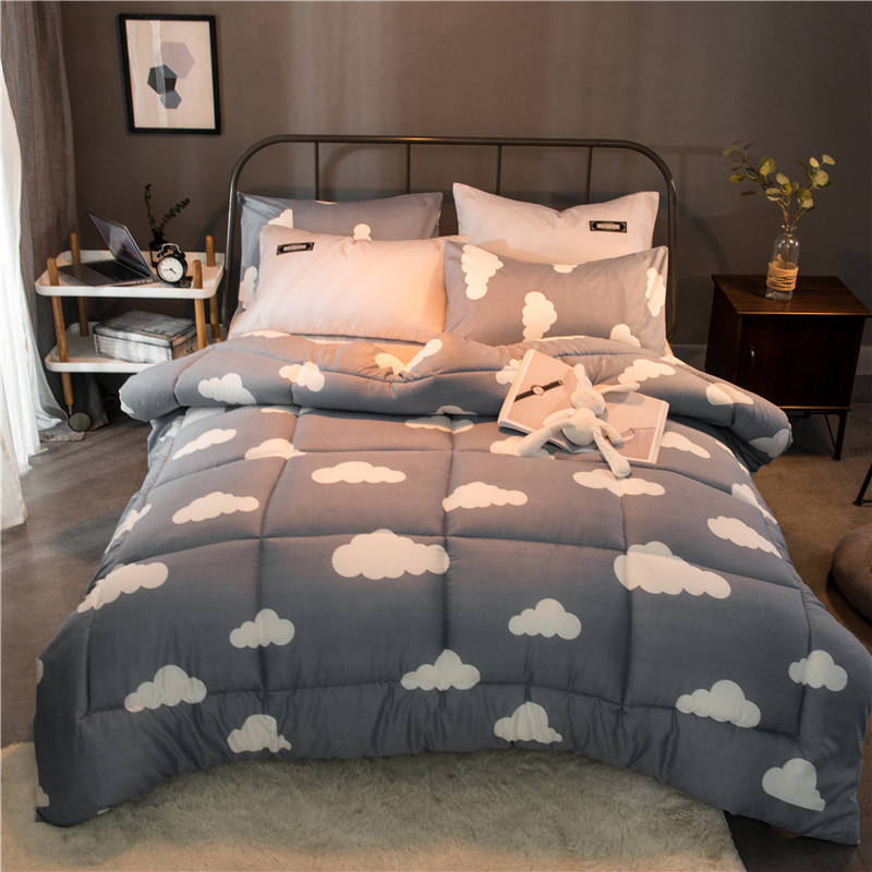 comforter set flower 3d printed bird cartoon luxury comforter polyester
