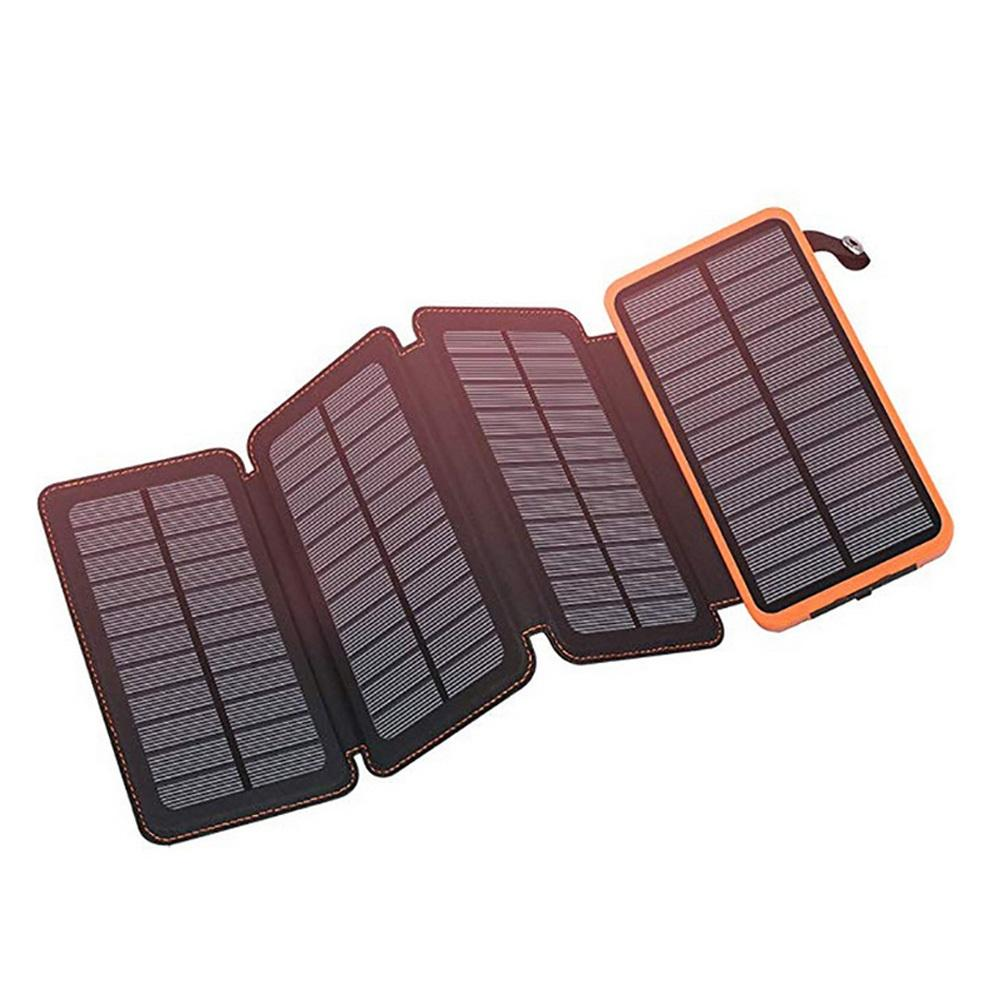 Private Label 20000 mah Dual <span class=keywords><strong>Usb</strong></span> Mobile Ladegerät Solar Power Bank Tragbare Power 20000 mah Solar Ladegerät Mit Led Licht