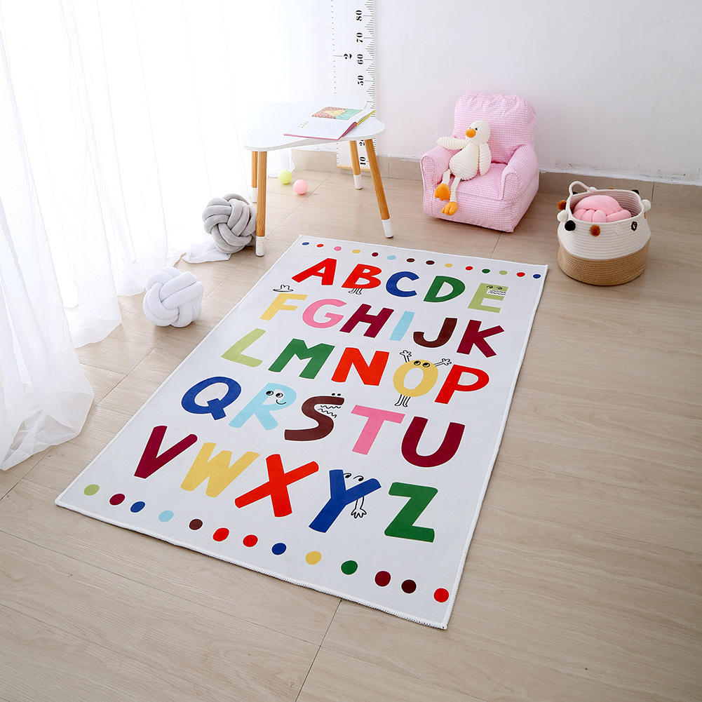 Hot sale popular color lettering floor mat baby play mat