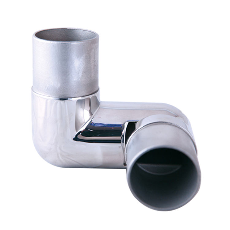 Stainless Steel Balustrade Railing Handrail Elbow Flush Joiner tube connector