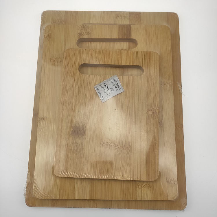 Rectangle 3 Pieces Kitchen Bamboo Chopping Board Set With Handles Butcher Blocks Chopping Block Set Organic Cheese Board