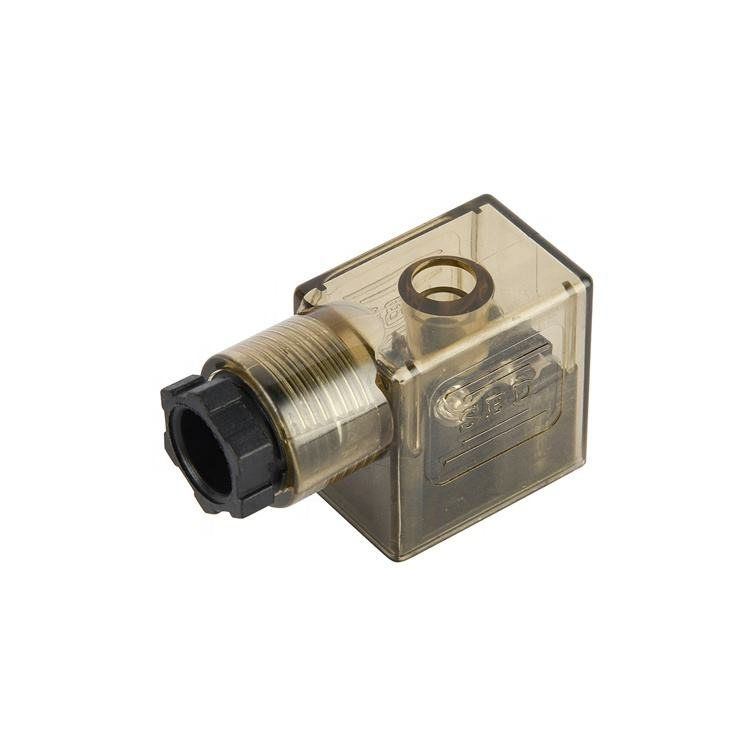 Low Power Mini Gas Valve Components Square Din Connector