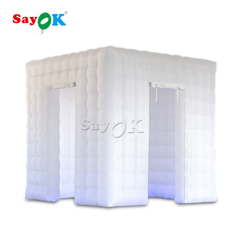 portable 2 doors led inflatable photo booth for sale