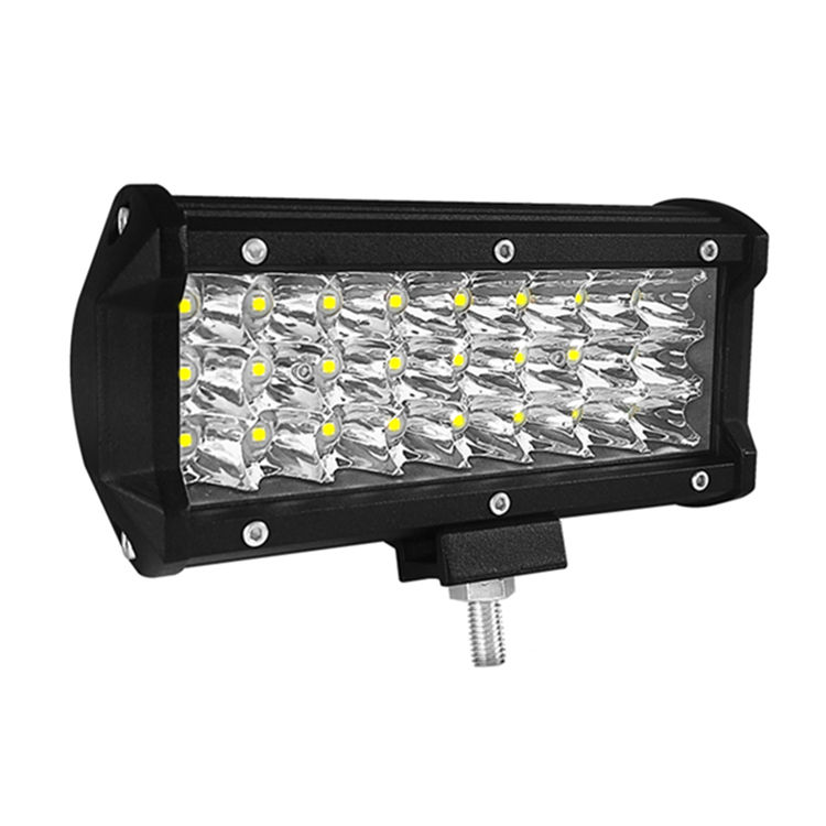 72W 154mm 6inch 7inch Led 72w 4x4 Strip Light 3 Rows LEDS Working Refit Vehicle Lamp 7200LM