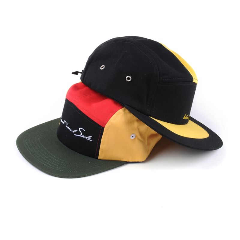 Personalized design two tone five panel caps, cotton blank 5 panel hats