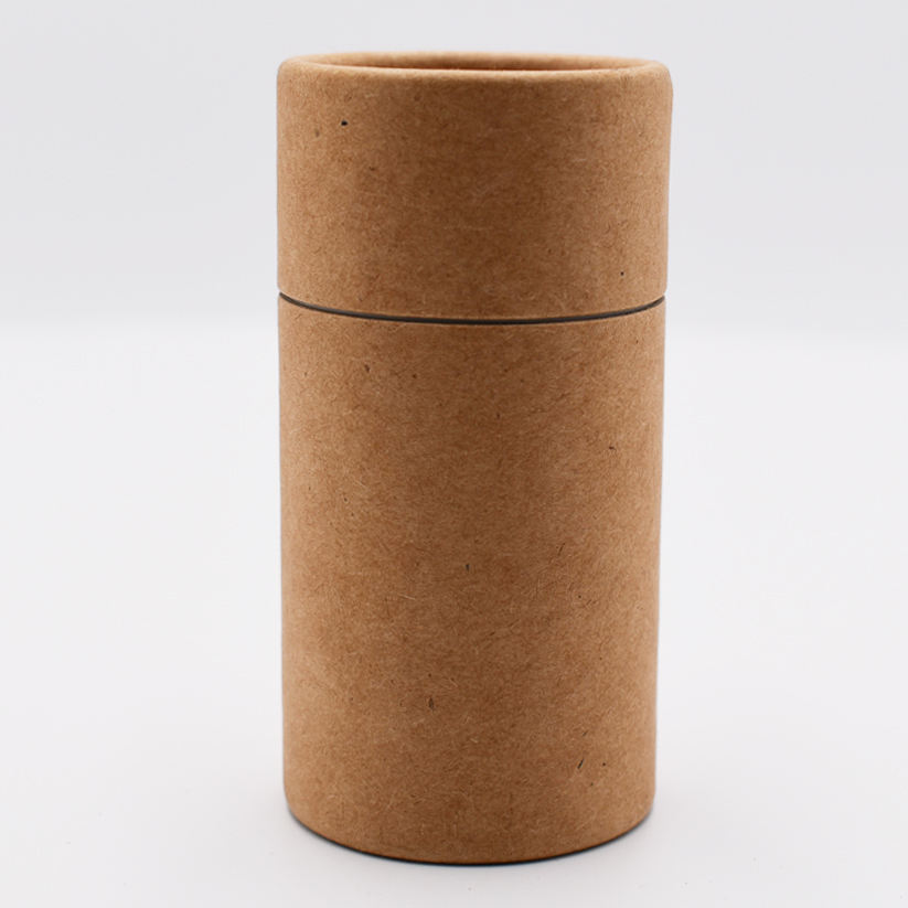 Custom Cardboard Paper Kraft Biodegradable Carton round Packing Craft Candle Tube Cylinder Packaging Box