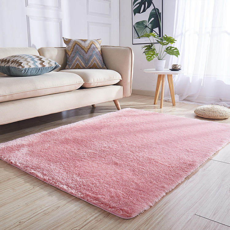 Home Decorative Solid color long pile floor carpet for Living room