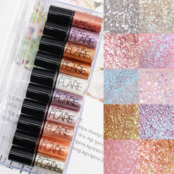 10 colors High quality makeup flare Glitter waterproof fashion Fast dry Eyes shadow