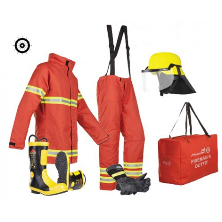 CE Certificate Fire Fighter Suit New Clothing Blue Costume Fireman Customized fireman clothes