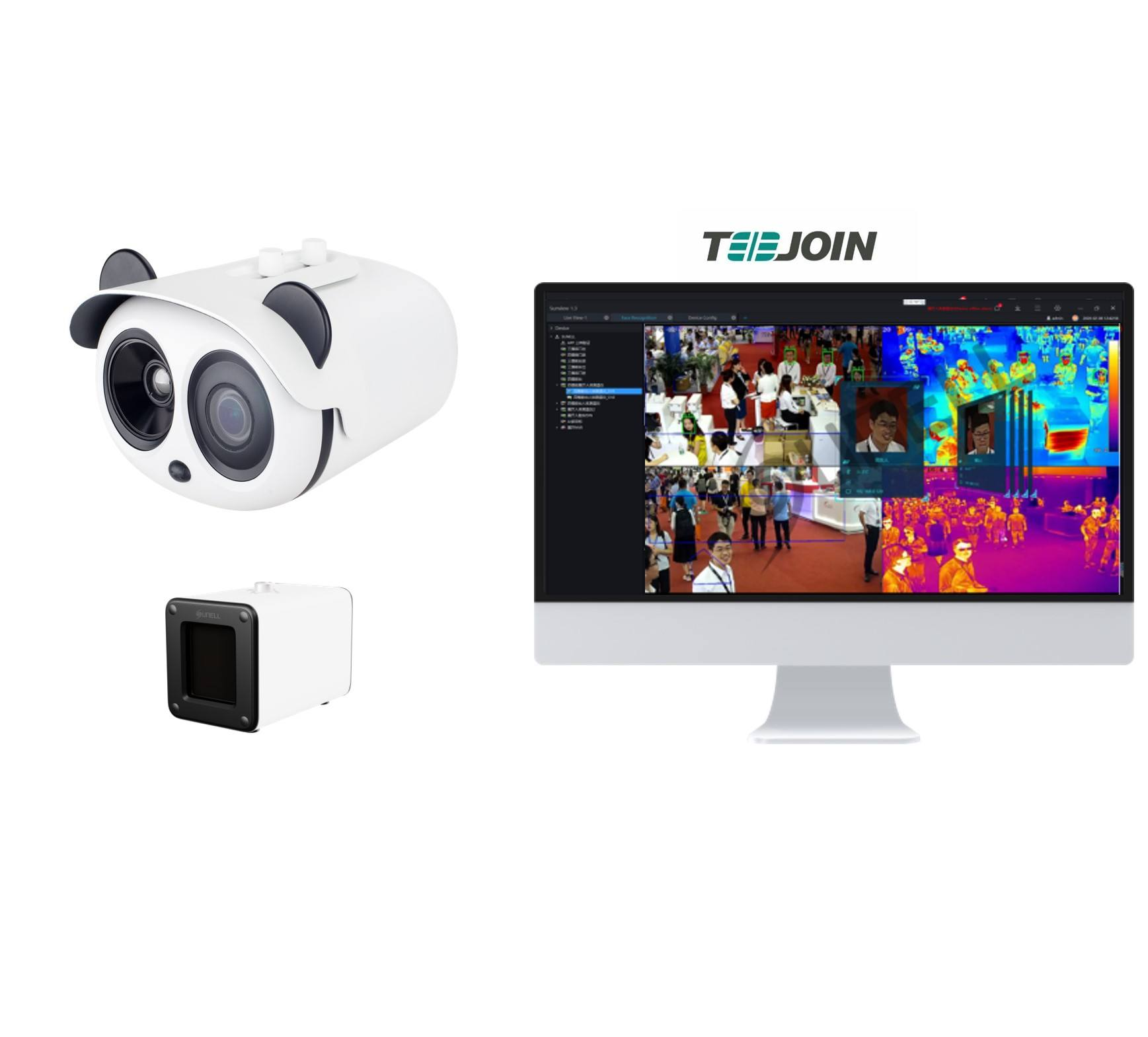 TEEJOIN China Flir Fever Detection Screening Thermal Scanner Imaging Body Temperature Infrared Face Recognition Thermal Camera