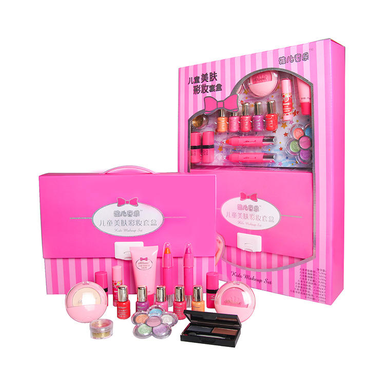 AKIA Popular Gift Type For Girls Beauty Cosmetic Box Packed Kids Makeup Kit