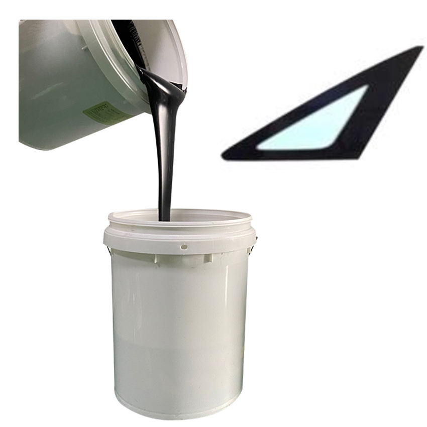 HSD-T455 tempered pigment matte paint black UV glass ceramic Ink for automotive car side window screen printing enamel coating