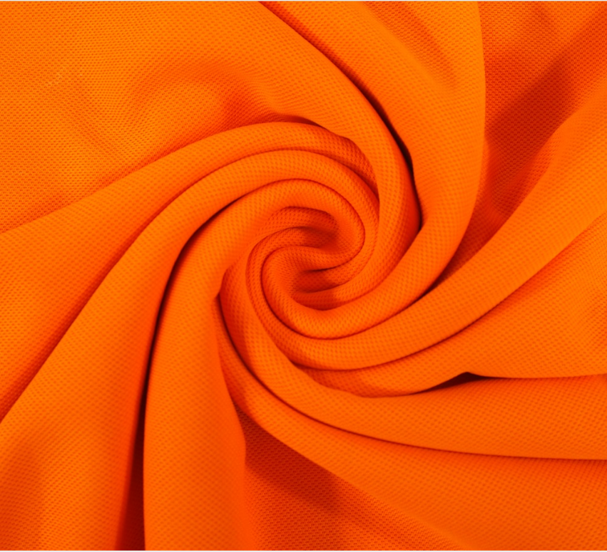 EN20471 High Visibility 100% polyester PK pique fluorescent jersey knit fabric