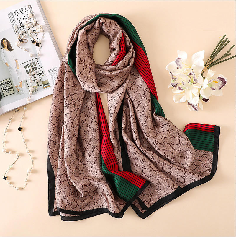 2020 New Silk Scarf High Quality Foulard Bandana Long Lrage Shawls Wrpas Winter Keep Warm Neck Scarves Pashmina Lady Hijab
