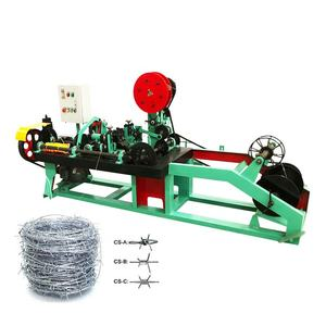 Best price automatic GI barbed wire fence making machine with high speed