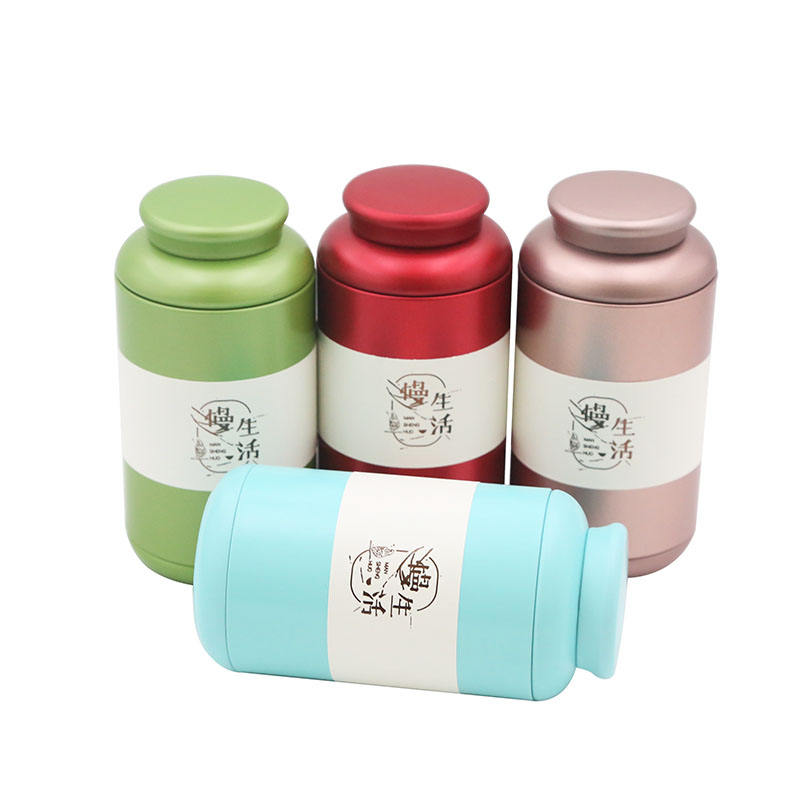 Recycled customized airtight round tin box for nuts coffee