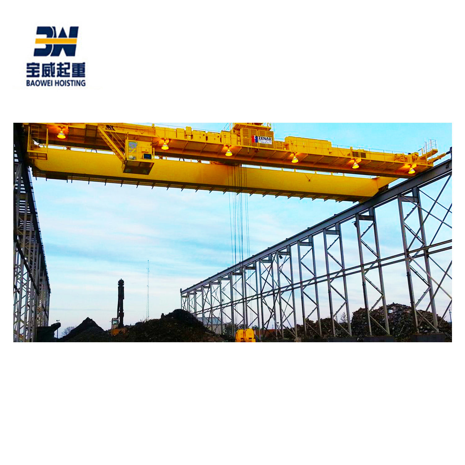Packaging Customization [ Crane ] Grab Bucket Overhead Crane 50T