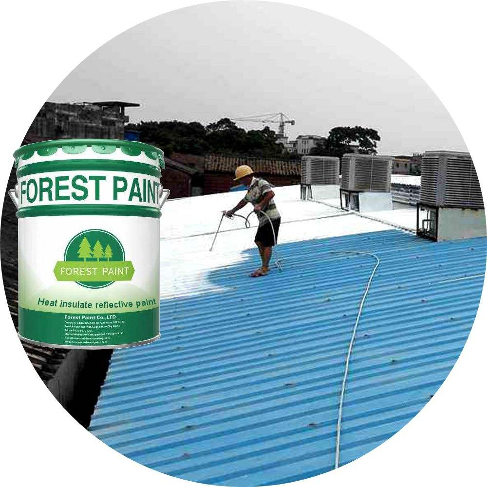Waterborne type solar heat reflective thermal insulation paint for interior and exterior