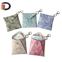 Marble pattern PU Leather facemask carrying cover case with