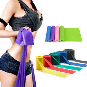 Private Label Sports Equipment Fitness Elastic Fitness Yoga Latex Exercise Resistance Band set