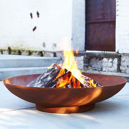 Tuin Ronde Fire Kom Hout Corten Staal <span class=keywords><strong>Outdoor</strong></span> Vuurkorf