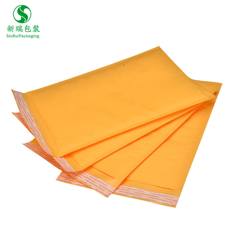 Wholesale Gold Kraft Paper Air Cushion Cloth Packing Kraft Bubble Mailer