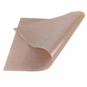 China, de alta calidad de alta temperatura de PTFE hoja de PTFE de fibra de vidrio no-pegajoso hoja de PTFE para prensa de calor