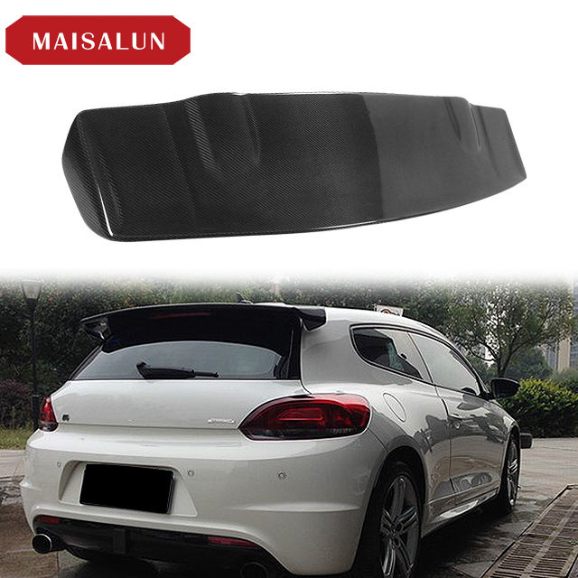 For Volkswagen VW for Scirocco R 2009-2014 top wing Rear Carbon Fiber Roof Spoiler