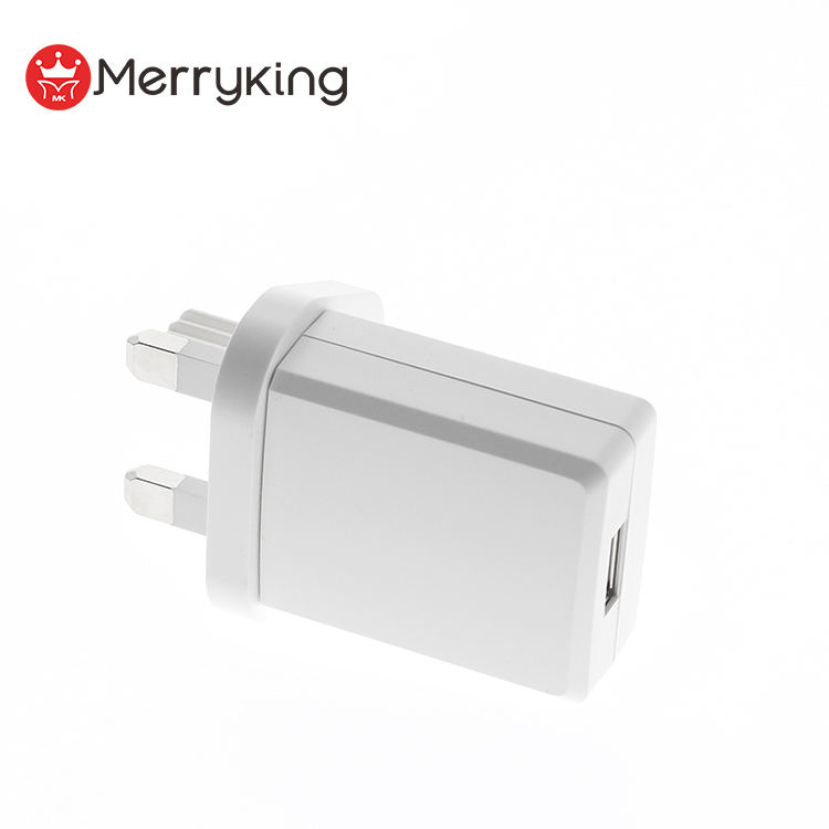 OEM Logo UK Plug 5V 2000ma 1 Port USB Dinding Travel Charger 5Volt 2A AC DC Power Adapter untuk Alat Cukur
