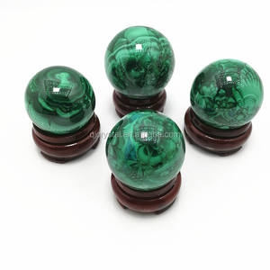 Natural green malachite quartz crystal ball sphere for home decoration