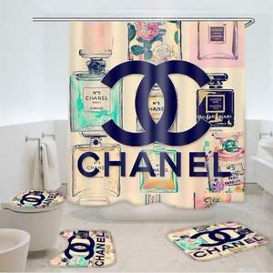 custom brand logo shower curtain Digital Print for home bathroom suit