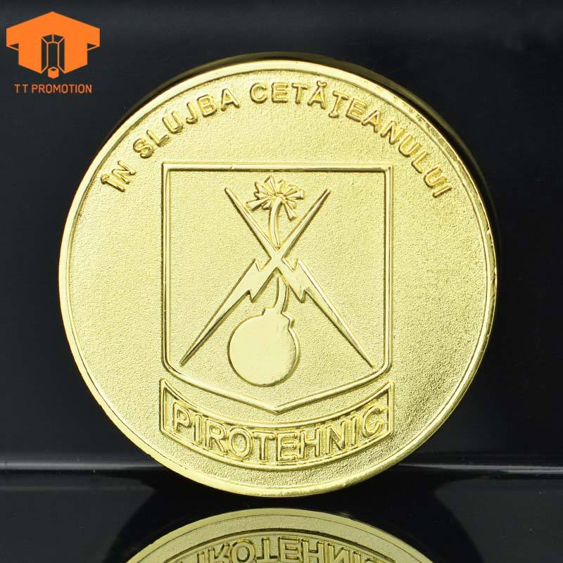 TT PROMOTION Custom Metal Plated Brass Old Coin