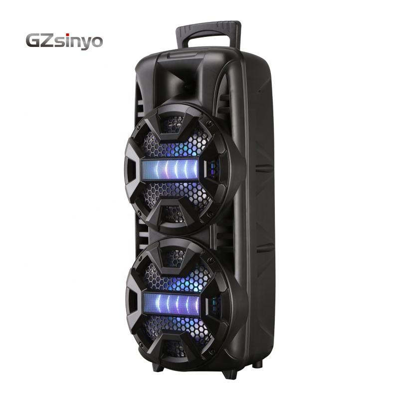 LT-2805 coloful lighting dual 8inch portable private battery speakers with BT/portable sound system