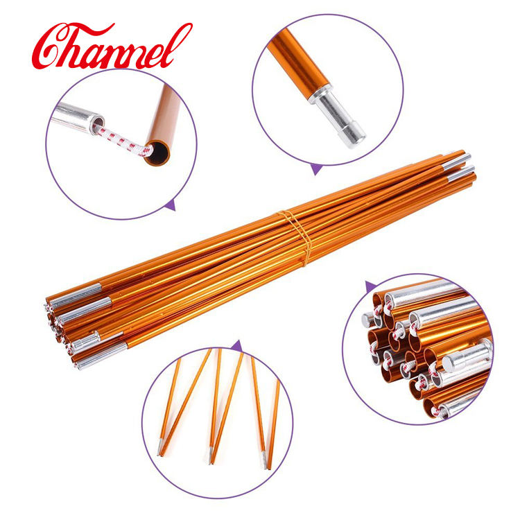 7001 aluminum tent pole shock cord connection tent accessories tent stake with high quality