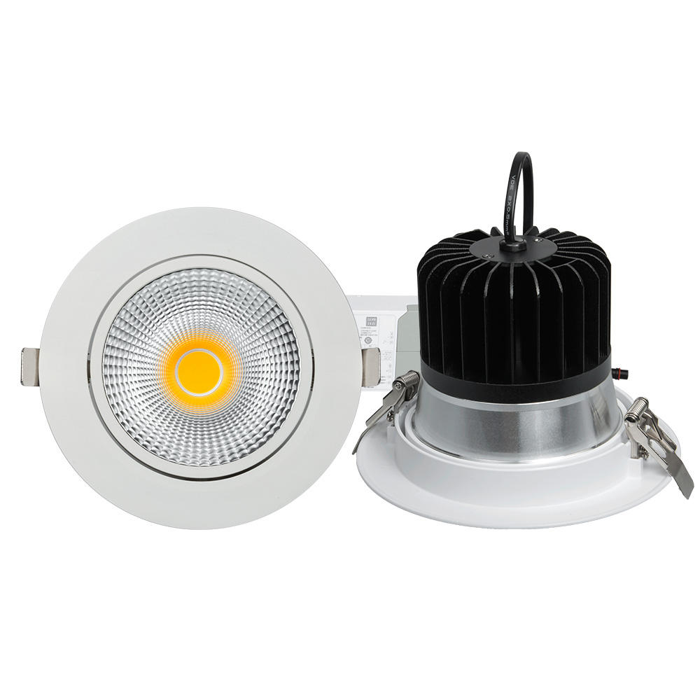 DALI dimmable CE/RoHS/SAA approved anti-glare UGR7-20 flicker free 30w beam angle adjustable cob recessed led light downlight