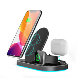 2021 new design Foldable 3in1 wireless charging station for