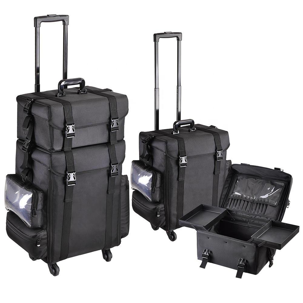 Kapper grote professionele trolley Stylist Case, 4 wheel rolling aluminium cosmetische nail make craft opslag koffer case