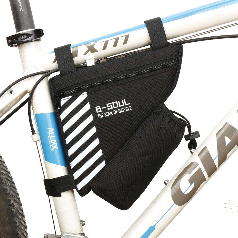 Promising Factory Customized Unisex Sport Bicycle Accessories Storage Bag Travel Triangle Saddle Frame Cycling Bike Bag