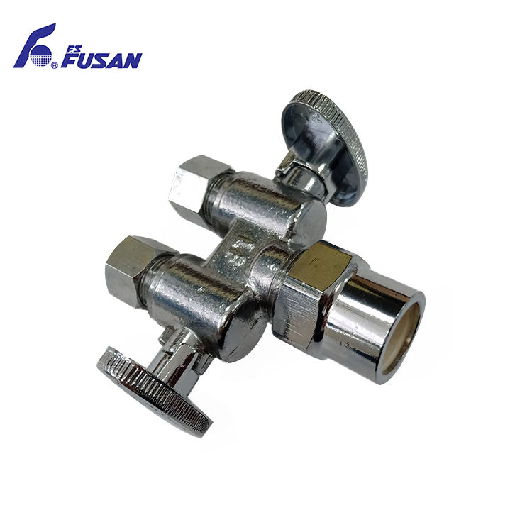 Turn angle stop valve,water flow control sanitary angle valve for fluids containing suspended solids