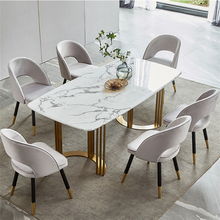 OEM/ODM Modern Design House Furniture Dining Table marble Dining Table Set