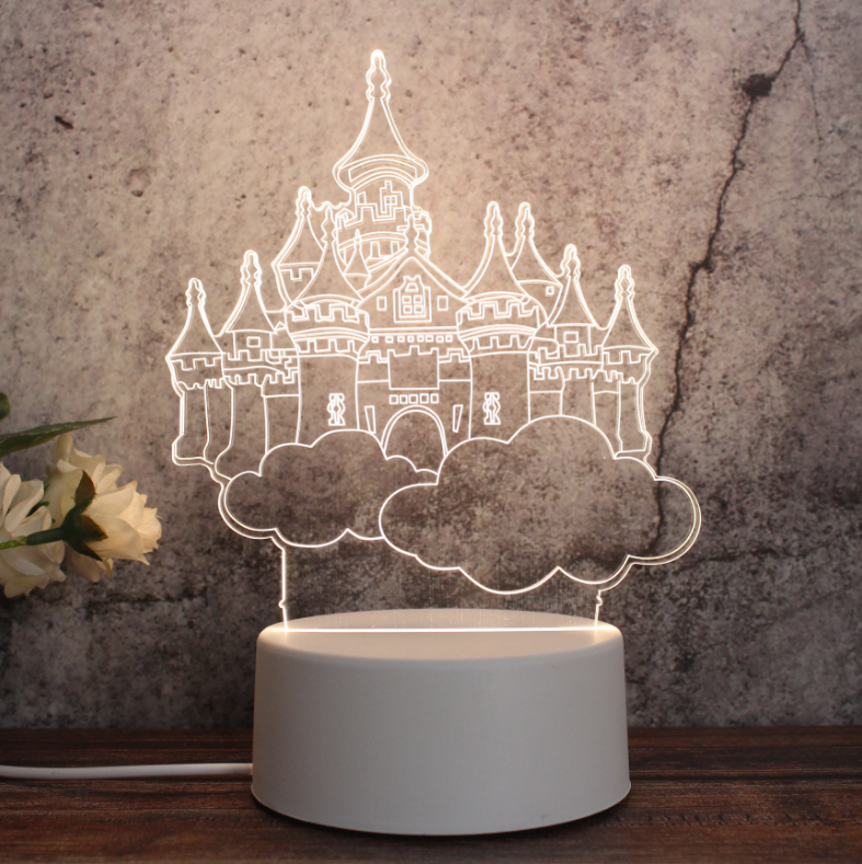Nice Decoration Fancy Acrylic 3d Led Night Light 3D Illusion Touch Night Light Novelty LED Table Lamp For Gift