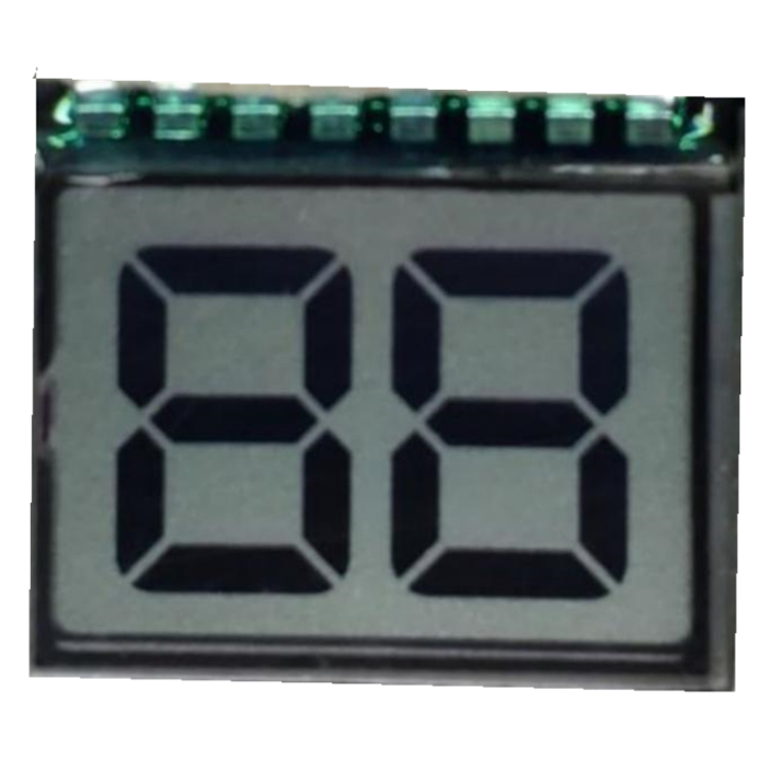 flexible 7 segmento display 2 digitals LCD display scree for timer