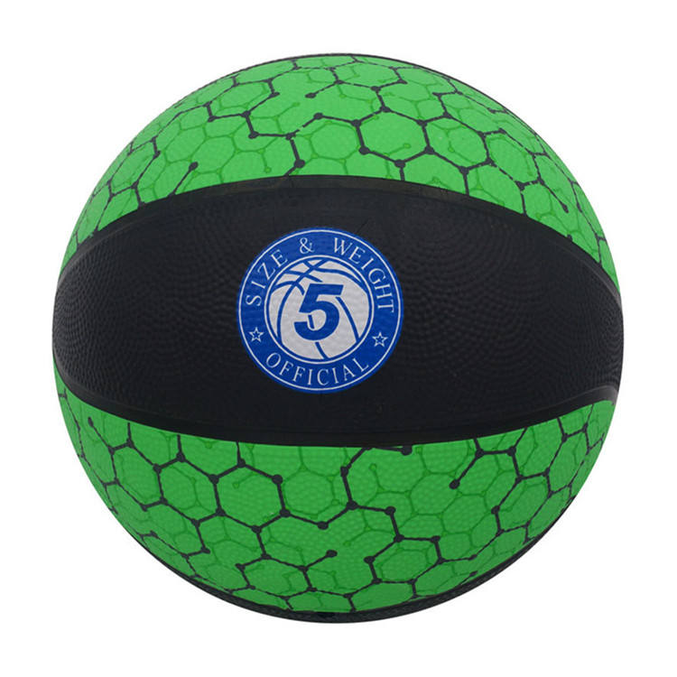 2020 factory wholesale custom printed official size 5 professional rubber basketball